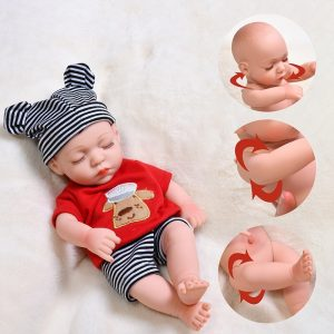1/6 Reborn Baby Dolls Toys For Girls Full Body Silicone Bebe Reborn Soft New Born Doll Lifelike Babies Cute Lovely Dolls Gifts